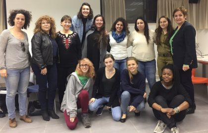"""Wrap-up meeting of the """"Path to Careers for Young Women"""" group, in cooperation with the women's organization Lion of Judah"""